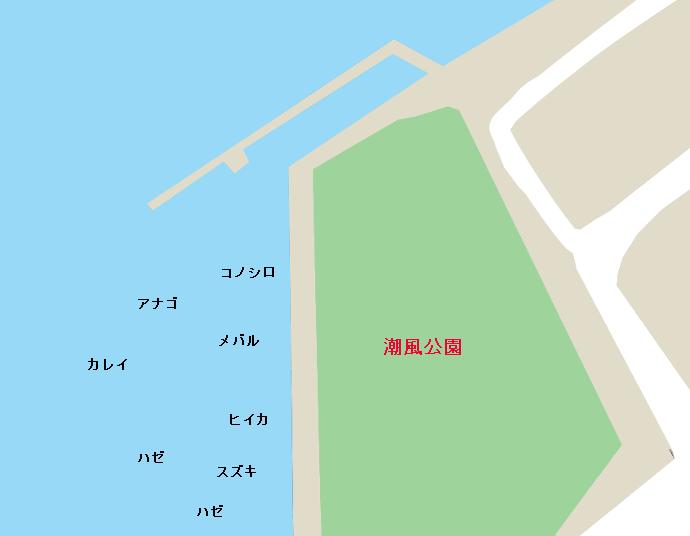 潮風公園ポイント図