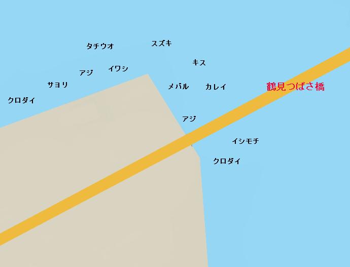 大黒埠頭鶴見つばさ橋周辺のポイント