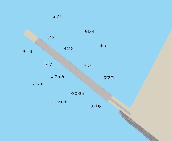 大黒海釣り施設ポイント図