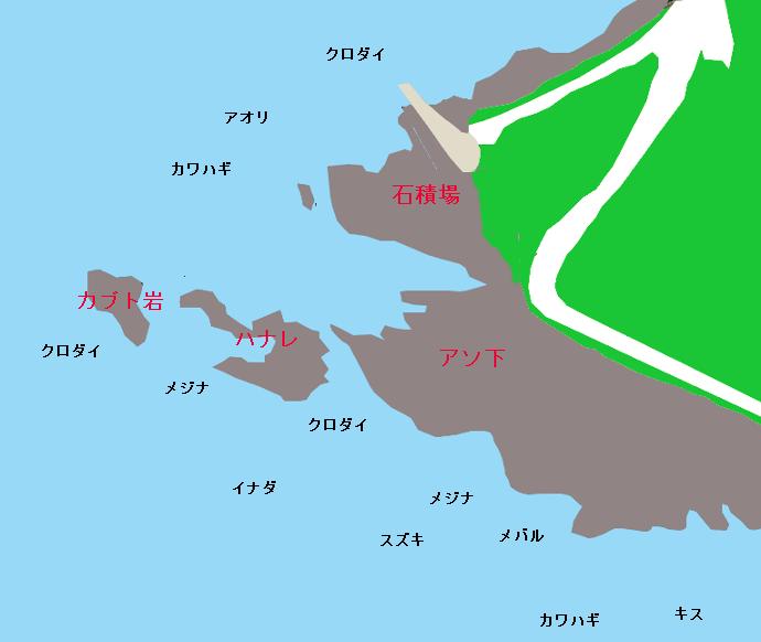 明鐘岬ポイント図