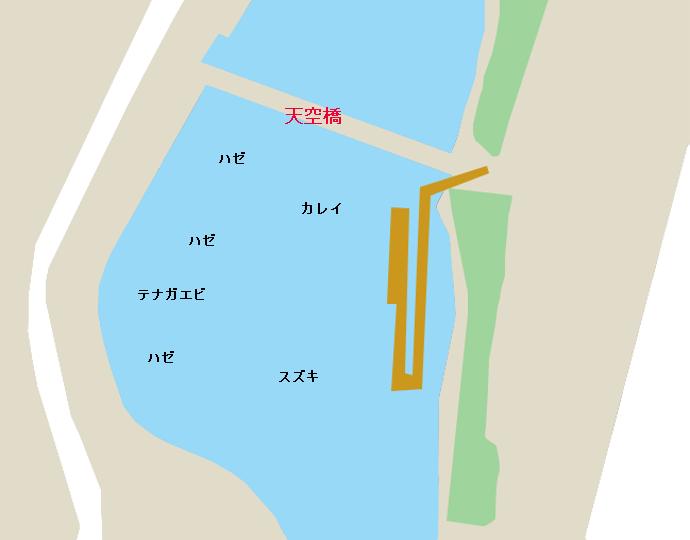 海老取川天空橋付近