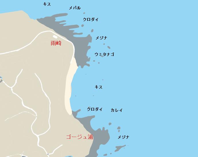 雨崎・ゴージュ浦のポイント