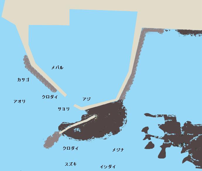 江見港ポイント図