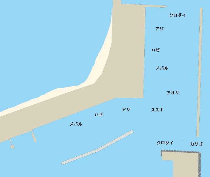 福江漁港ポイント図