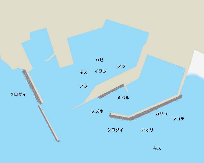 船形港ポイント図