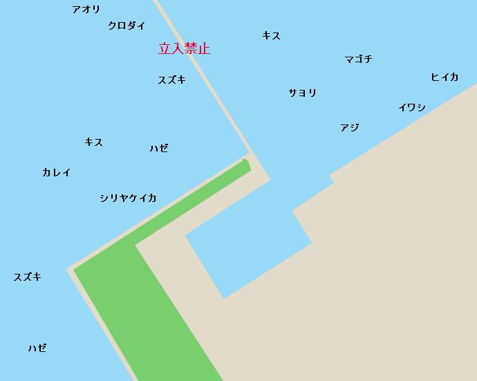富津新港、富津みなと公園ポイント図