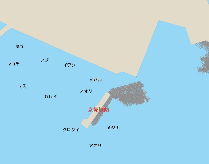三崎港晴海町岸壁ポイント図
