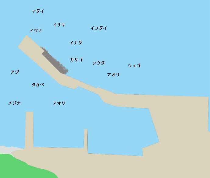 初島第一漁港ポイント図