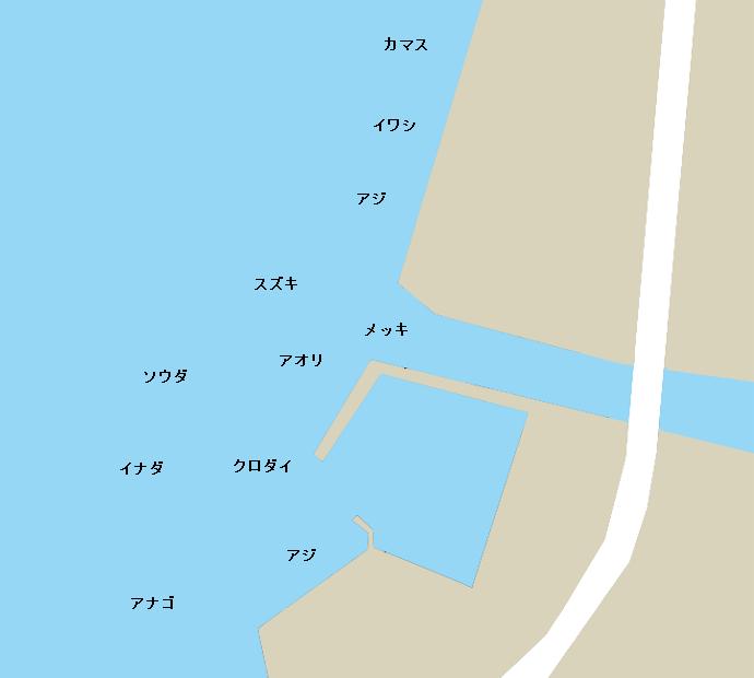 戸田港ポイント図