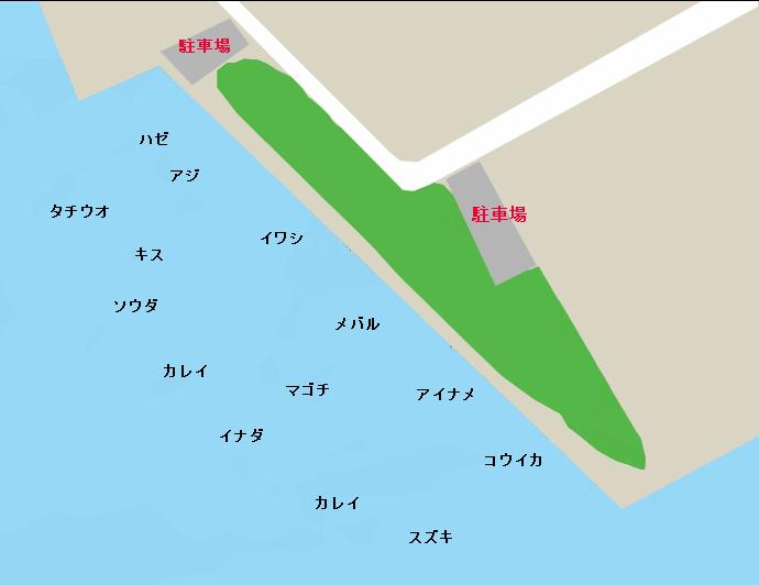 東扇島西公園ポイント図