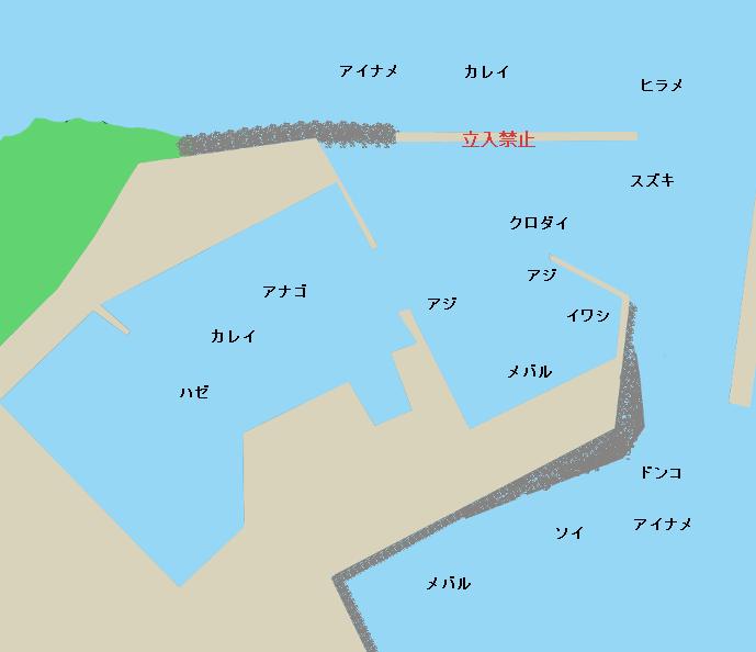 平潟港ポイント図