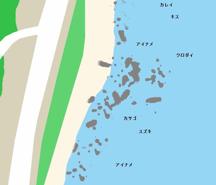 平磯海岸ポイント図