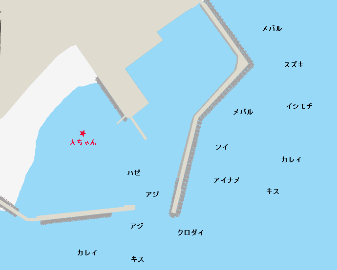 平磯港ポイント図