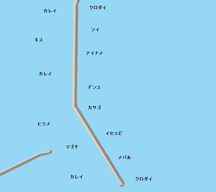 日立港沖堤ポイント図