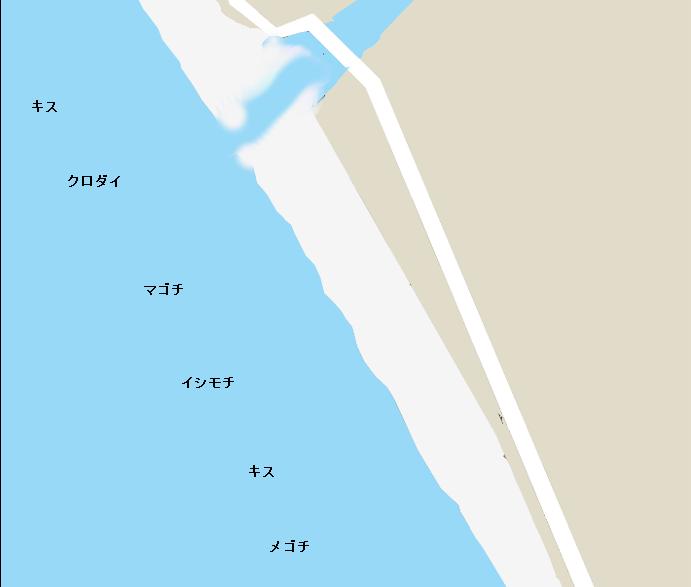 保田海岸ポイント図