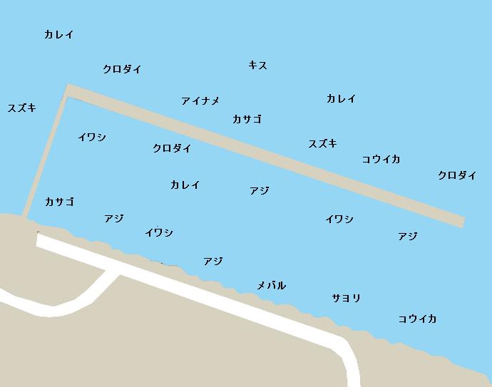 本牧海釣り施設ポイント図