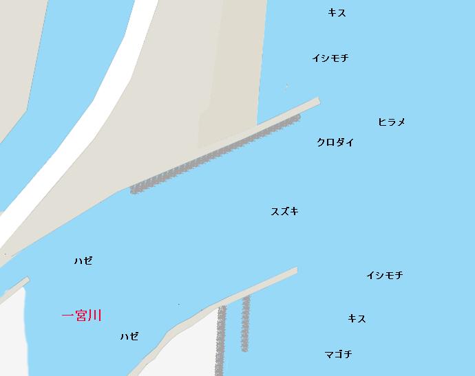 一宮川河口ポイント図