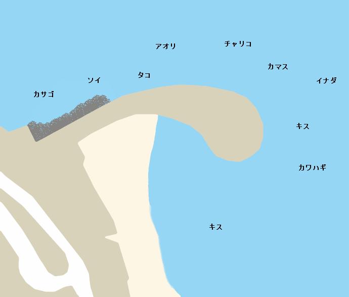いるか浜堤防ポイント図
