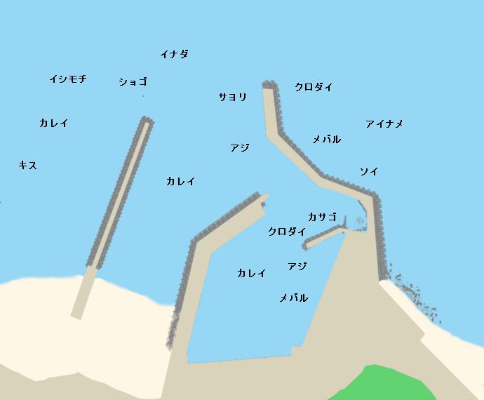 磯崎港ポイント図