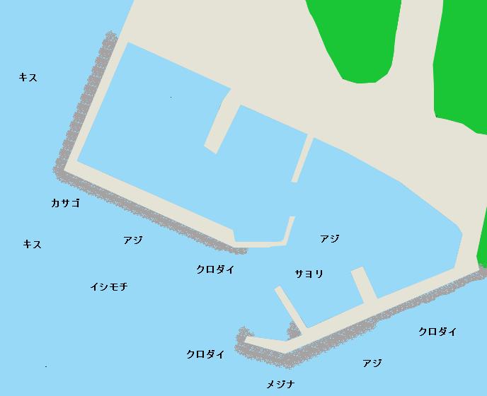 岩和田港ポイント図