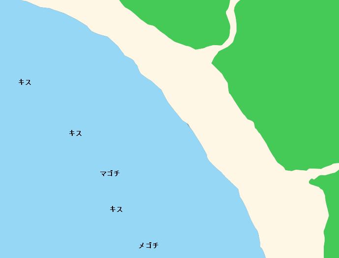 一色海岸ポイント図