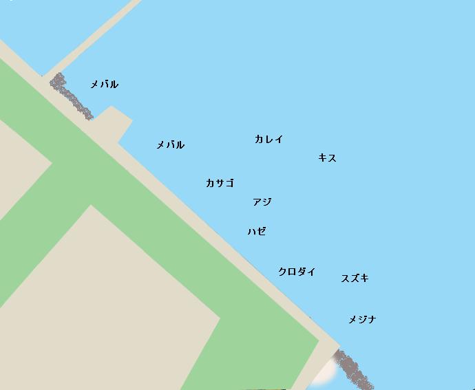 城南島海浜公園ポイント図