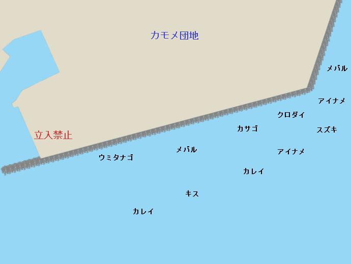 横須賀浦賀カモメ団地ポイント図