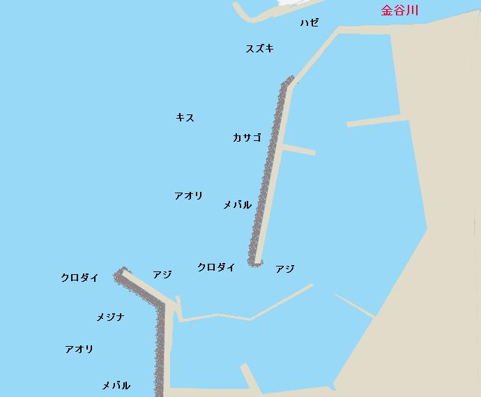 金谷港ポイント図