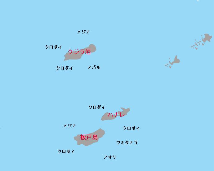 金谷沖磯のポイント(クジラ岩、板戸島)