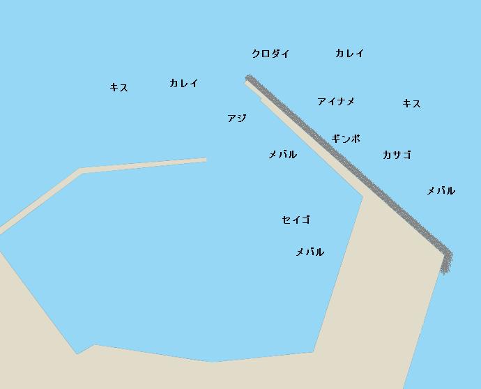 金田漁港ポイント図