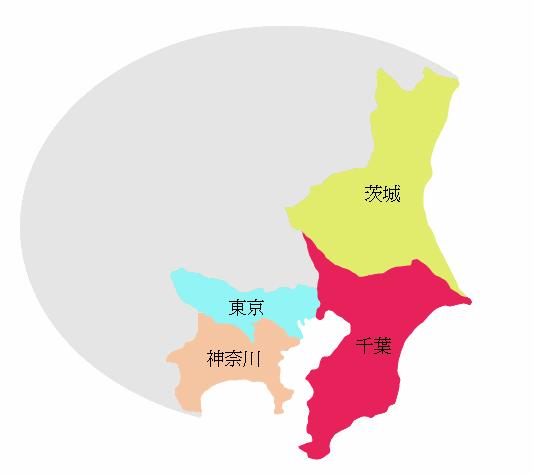 関東地方の地図