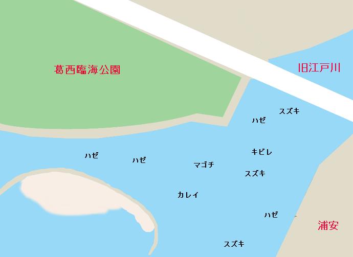 葛西臨海公園ポイント図