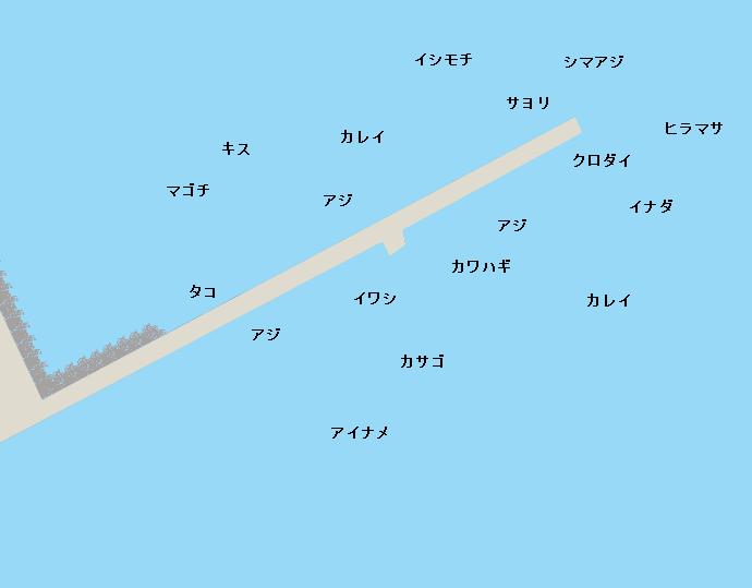 鹿島港魚釣り園ポイント図