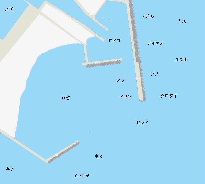 片貝港ポイント図