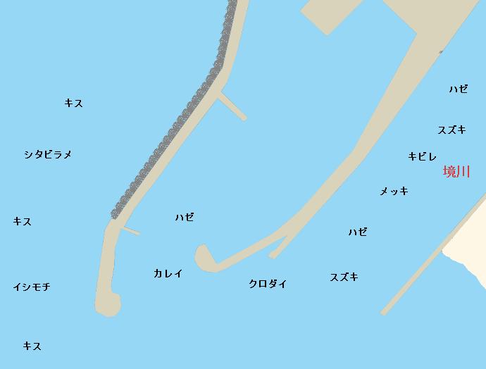 片瀬漁港ポイント図