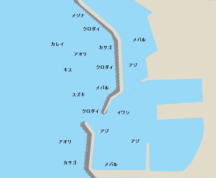 勝山港ポイント図