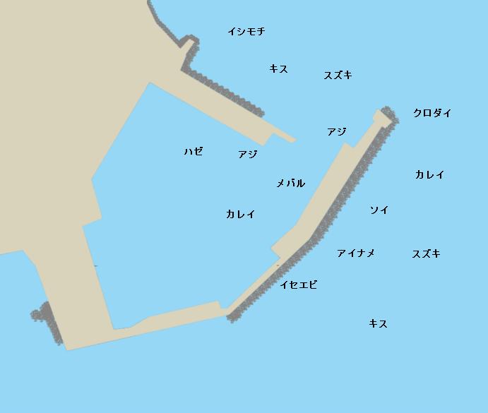川尻港ポイント図