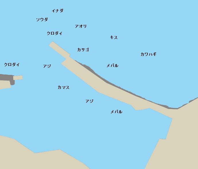 川奈港ポイント図