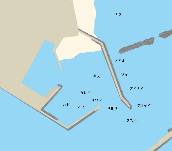河原子港ポイント図