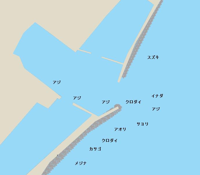 川津港ポイント図