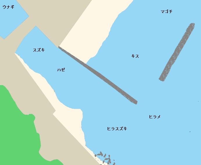 河津川河口ポイント図