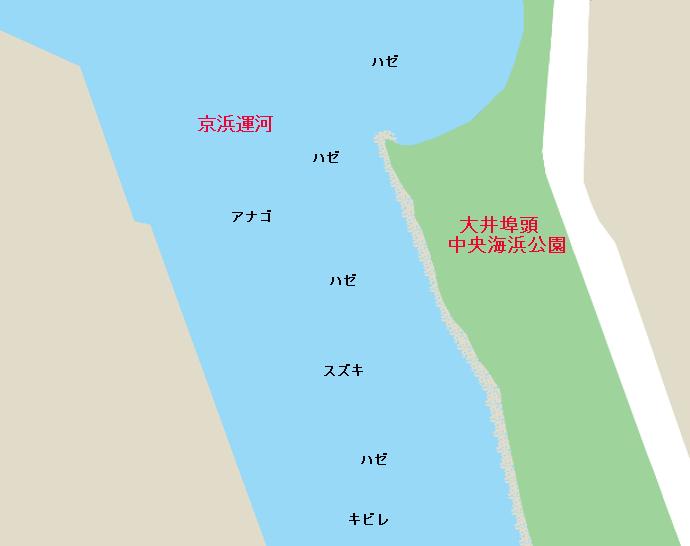京浜運河大井埠頭海浜公園のポイント