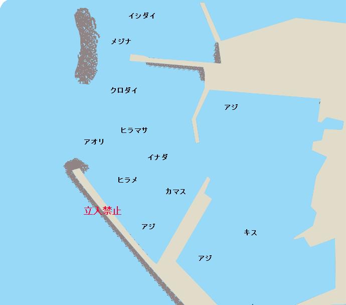 小湊港ポイント図