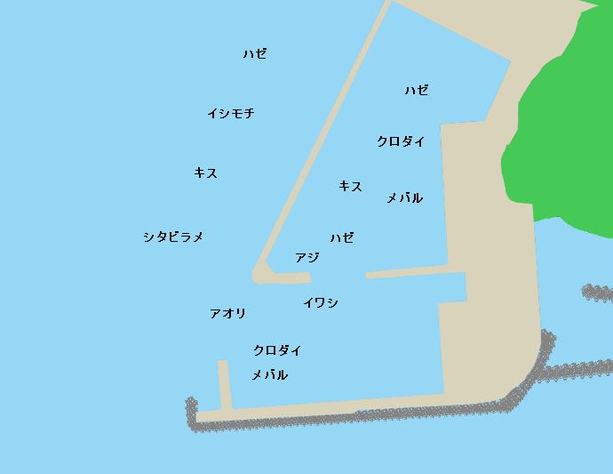 腰越漁港ポイント図