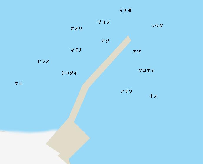 香谷堤防ポイント図