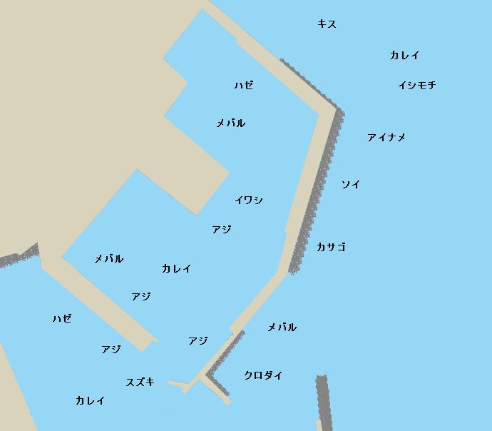 久慈港ポイント図
