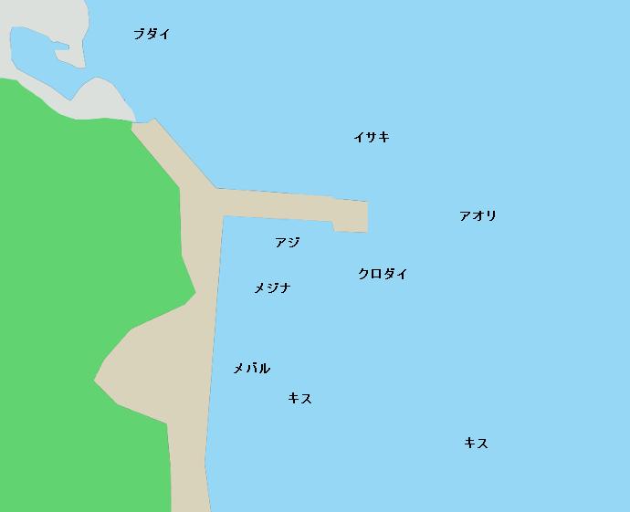 雲見港ポイント図