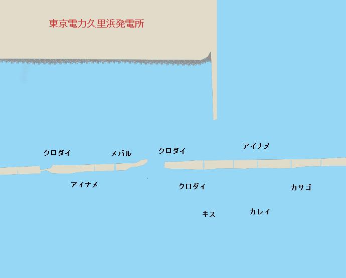 久里浜東電堤防ポイント図