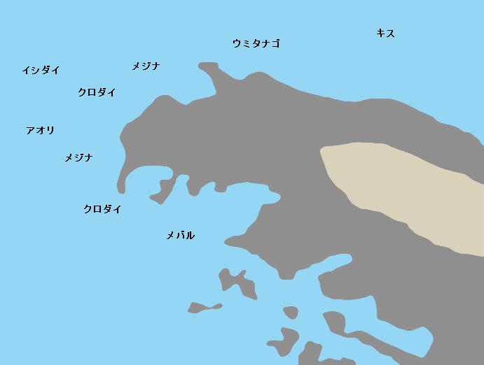 黒崎の鼻ポイント図