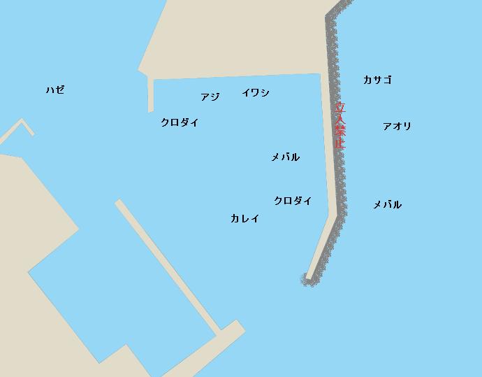 間口港ポイント図
